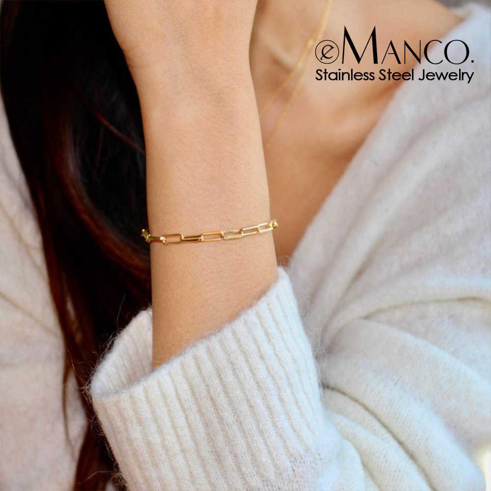 Armband Voor Vrouwen Curb Cubaanse Link Chain Rvs Womens Armbanden Kettingen Davieslee Sieraden