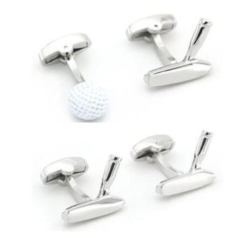 10pairs/lot Sport Golf Club Cufflinks Copper Plating 3D Golf Ball Cuff Links Father Day's Day Gifts Men's Jewelry Wholesale