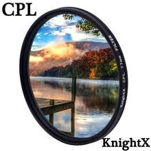 KnightX CPL polarizador 49 52 55 58 62 67 72 77 mm Filtro de lente de cámara para Sony Canon Nikon d5300 600d d3200 52mm 58mm