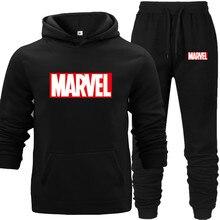 купить Man Hoodies Suit Black Men's Hoodie Sweatshirt Sets with Pocket Warm Fleece Street Hip-hop Lover's Long Hoodie Match Sports Wear по цене 531.47 рублей