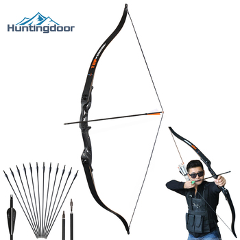 Hunting Recurve Bow Professional Archery Hunting Bow Right Hand 30-50 lbs Metal Riser Training Shooting Outdoor Take Down Bow archery hunting shooting recurve bow riser am60 magnesium alloy wooden handle right hand for outdoor