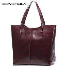 Real Genuine Leather Women Handbags Luxury Designer 2019 Soft Cowhide High Capacity Shoulder Bag Dames Tassen Bolsos Luxuosas