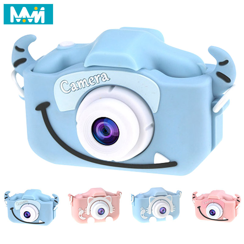 Mini Kids Digital Video Camera Cute Cartoon Frog Toy Camera Kids Educational Built-in Battery For Boys Girls Children's Day Gift