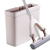 Esponja esfregão e esfregão balde com cabeças de esponja de substituição pva esponja mop super absorvente limpeza fácil para piso de madeira Esfregão     -