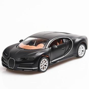 1/36 Diecast Alloy Car Toy Bugatti Chiron Metal Alloy Sports Car Mini Car Children Toy Car Model Collection