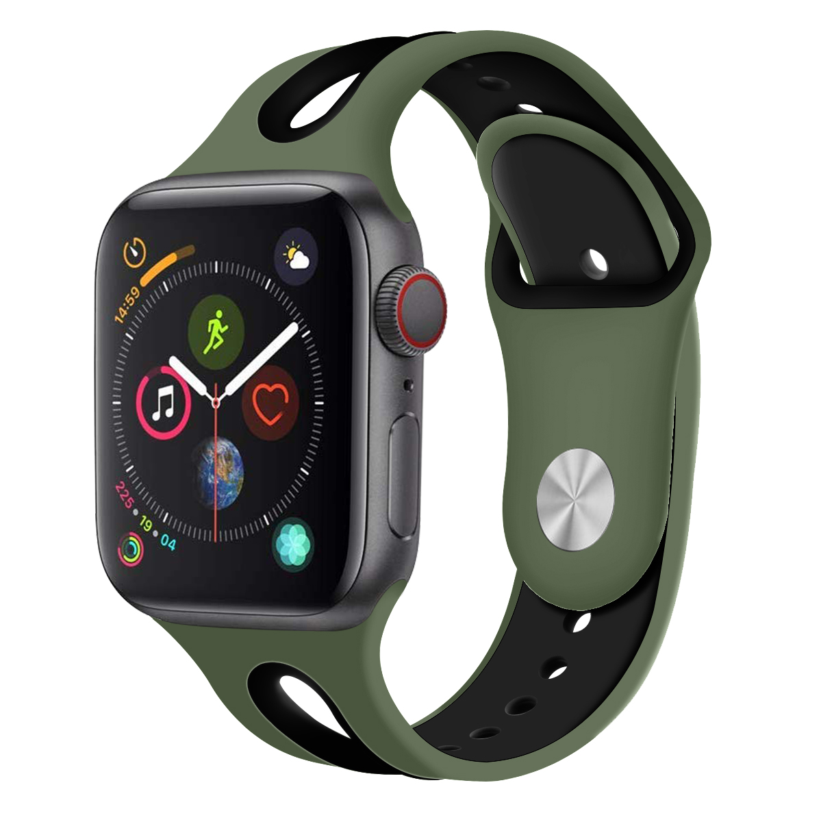 Compatible With Apple Watch Band 42mm 38mm 44mm 40mm Silicone Iwatch Bands Strap For Apple Watch Series 5/4/3/2/1 81003