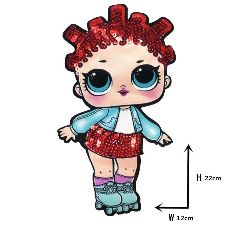 Мультяшные нашивки женские модные куклы лол для девочек Милая Модная Кукла-мальчик вышивка на одежду ручная работа украшение одежды Блестки Ткань - Цвет: WW-32