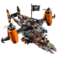 Ninja Movie Super heroes VS Sky Pirates Misfortunes Keep Building Blocks jet aircraft Toys For Children