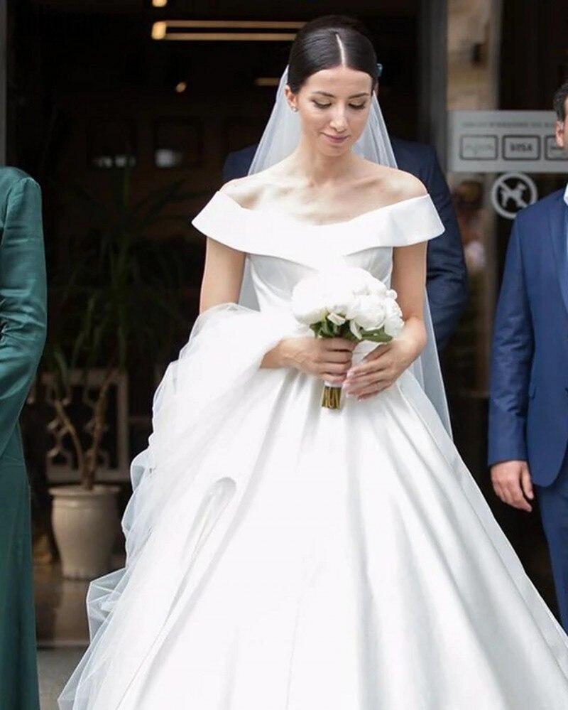 Off Shoulder Wedding Dresses For Bride A Line Sweep Train Country Style Bridal Gowns Retro Cheap Garden Vestidoe De Noiva Custom