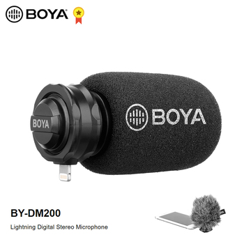 BOYA BY-DM200 Digital Stereo Cardioid Condenser Microphone MFI Certified Superb Sound for iOS Devices Recording for iPhone
