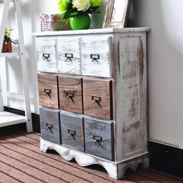 Retro Style Living Room Storage Table 2