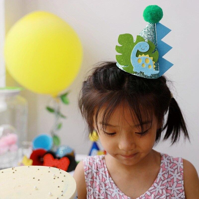 Детская зимняя шапочка для ребенка в течение одного года, милая мультяшная маленькая шапочка с динозавром Дамбо, русаловечерние шапочка дл...