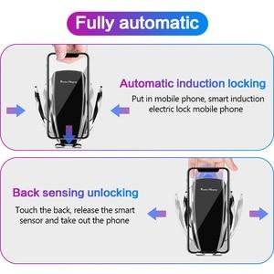 Image 5 - Автомобильное беспроводное зарядное устройство с автоматическим зажимом для iPhone 11 Pro XS MAX X 10 Вт Быстрая зарядка для Samsung Huawei P40 P30 Pro держатель для телефона