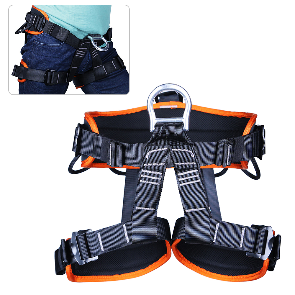 Rock Climbing Safety Seat Harness Falling Protection Belt Rappelling Escalade Equipment Outdoor Climbing Tools Tackles