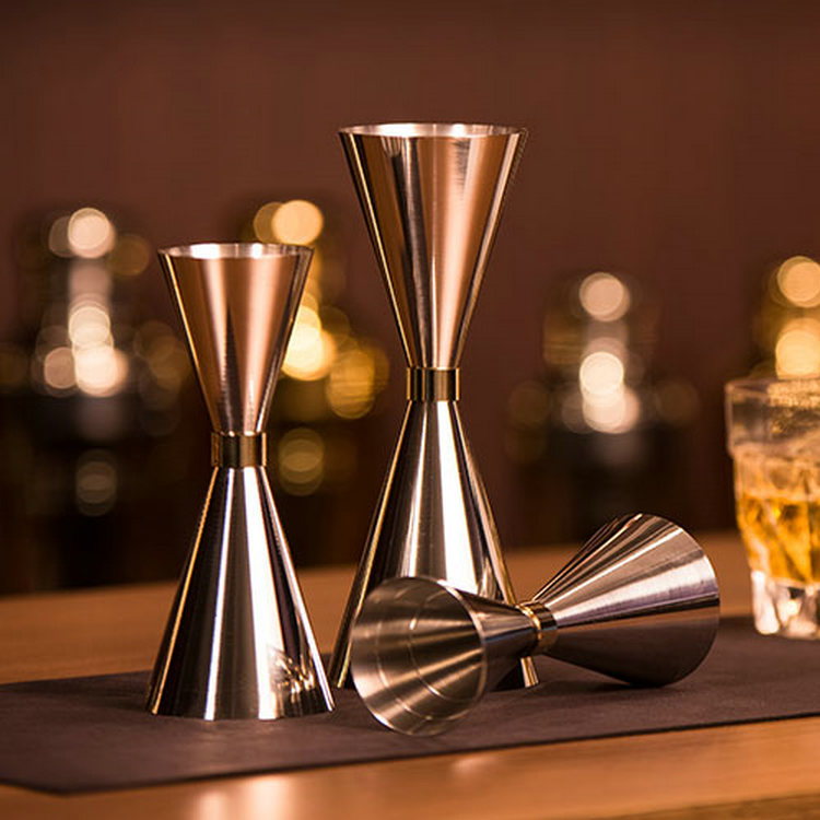 1PCS Stainless Steel Slim Double Jigger Cocktail Measuring Jigger Liquor Mearing Cup Martini Measuring Tool Bar