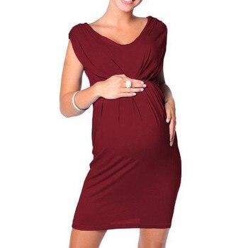 Maternity Clothes Pregnant Women Sleeveless Bodycon Dress Sexy 2