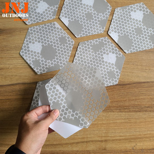 Image 2 - waxless hexagon style surfboard transparent deck traction pad 20pcs a box