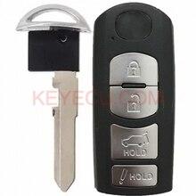 KEYECU Smart Remote Key 4 Button fob FSK 315Mhz PCF7953P 49 Chip for Mazda CX 9 CX9 2016 2017 2018 WAZSKE13D02 / SKE13D01