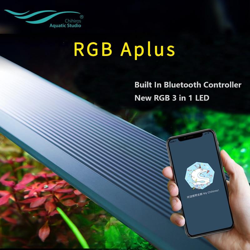 Chihiros rgb a mais série com construído em controlador bluetooth 3 em 1 rgb led sunrise sunset planta crescer aquário lâmpada luz