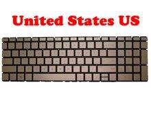 Клавиатура для ноутбука HP 15-BS000 2B-AB301W605, США, без рамки, золотистая, 925010-001