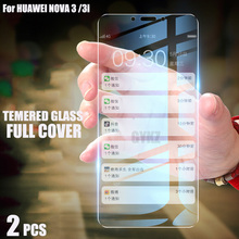 2Pcs Full Screen Tempered Glass For Huawei Nova 6 5T 4 3 3i Screen Protector Tempered Glass For Huawei Nova 3 3i 4 5T 6 SE glass