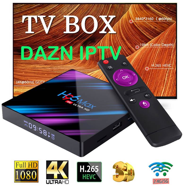H96 MAX 3318 Android 9.0 rockchip rk3328 4GB 64GB USB 3.0 wsparcie DAZN iptv HDMI 2.0 4K H.265 HD YouTube Netflix Smart TV Box