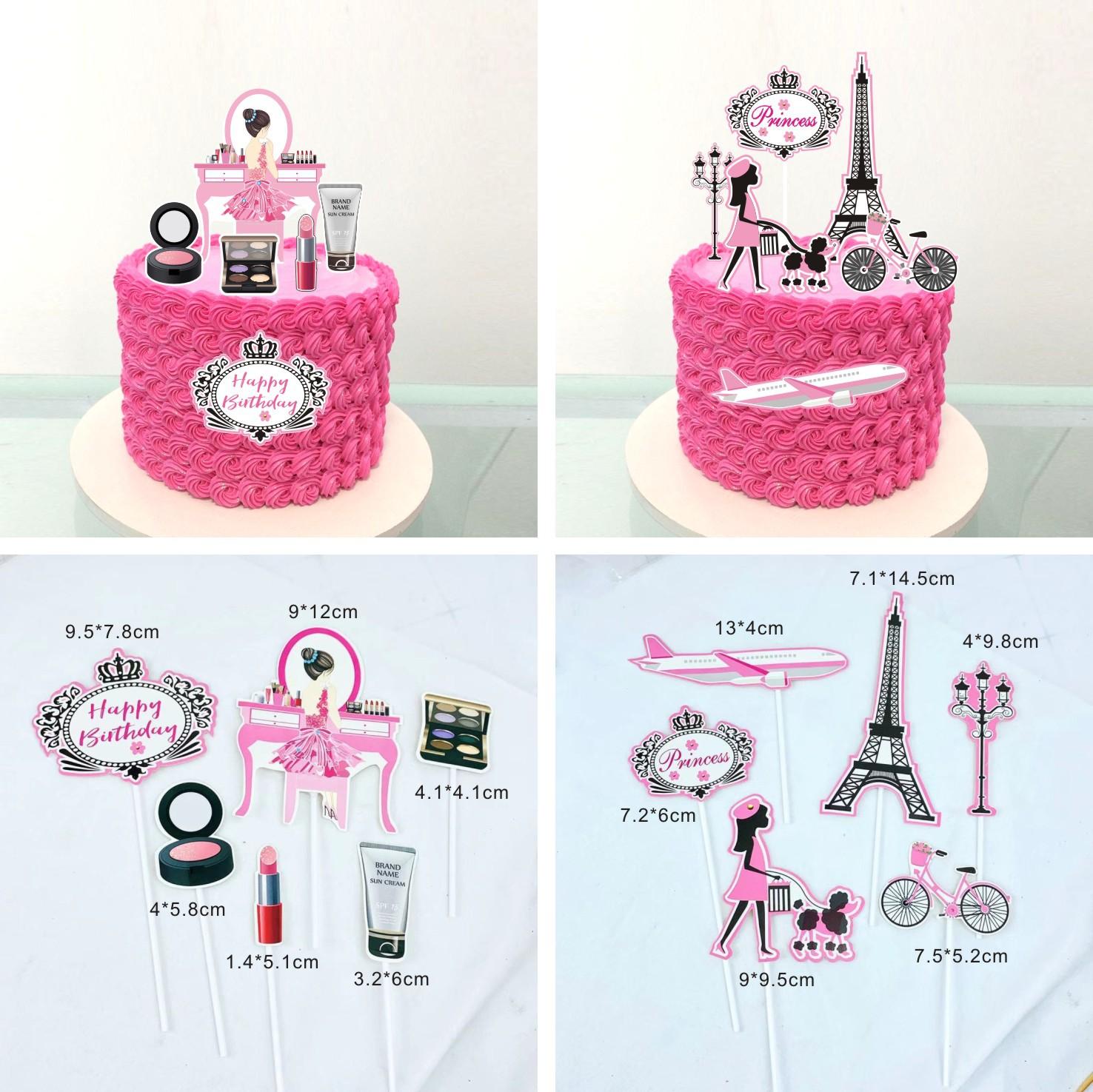 Fantastic Romantic Paris Travel Dream Theme 21St Happy Birthday Cake Topper Funny Birthday Cards Online Overcheapnameinfo