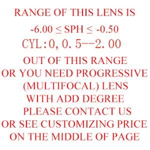 Image 2 - أفضل النظارات العدسات إطار نظارات إعداد Rx قصر النظر فوتوكروميك القراءة خدش واقية مضادة للانعكاس طلاء HMC Lf01