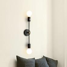 wall light double head LED wall lamp modern bedroom lamp wrought iron bedside lamp bar personality aisle lamp wall lamp