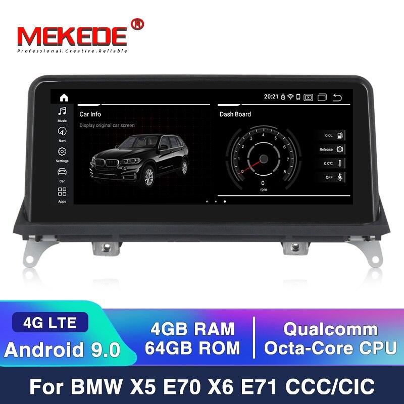 MEKEDE MSM8953 8 rdzeń Android 9.0 4 + 64G 4G LTE samochodowy odtwarzacz multimedialny dla BMW X5 E70/X6 E71 (2007-2013) jednostka systemowa CCC/CIC PC