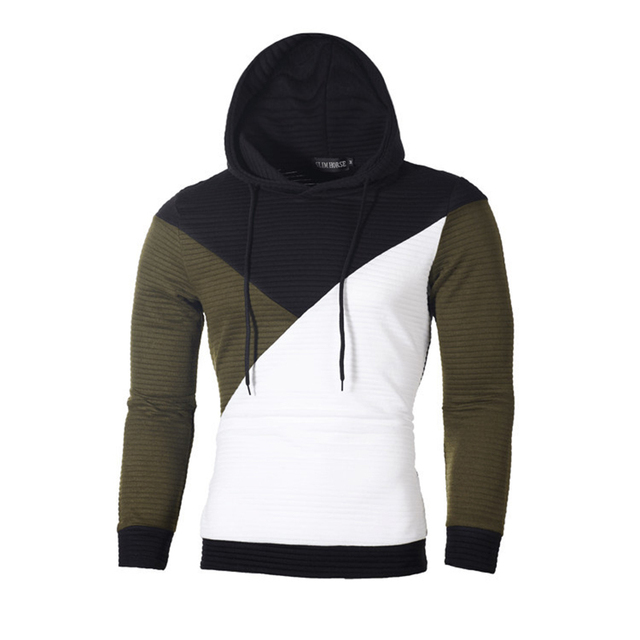 IceLion 2019 Autumn Hoodies Men Sweatshirt Patchwork Slim Fit Cotton Sportswear Fashion Tracksuit Hip Hop Streetwear Pullover 1