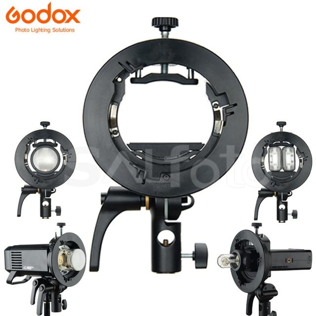 Godox S2 Speedlite Staffa S1 Aggiornato S Type Bowens Flash Del Supporto Del Supporto per Godox V1 V860II AD200 AD400PRO TT600 snoot Softbox