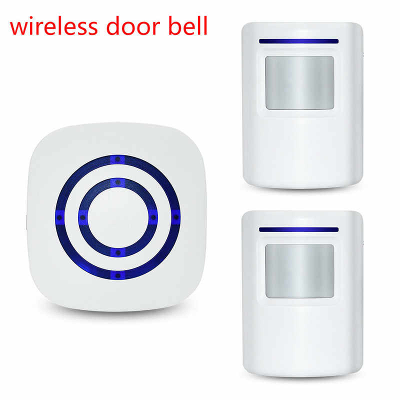 Motion Sensor Alarm Wireless Driveway Alert Home Security System Human Body Induction Smart WiFi Doorbell Sensor and Receiver