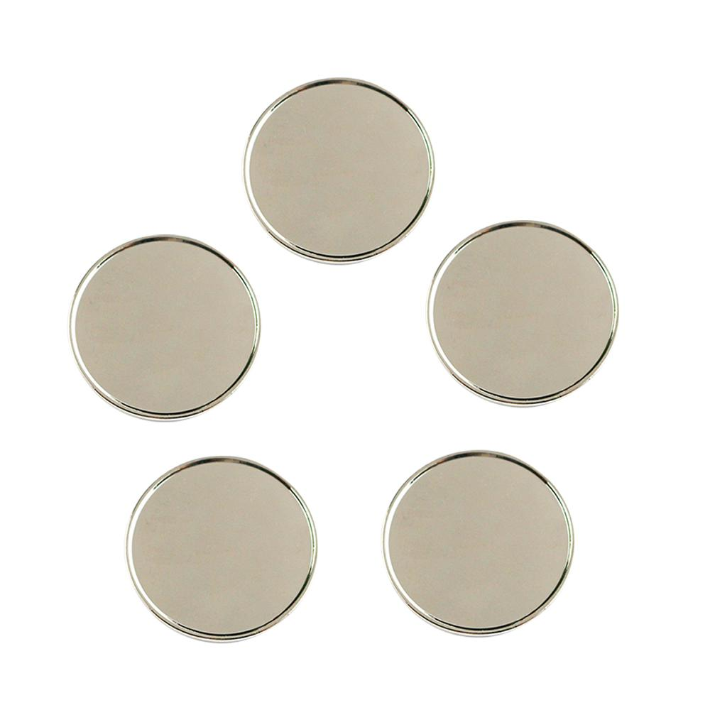 PINMEI Blank Iron Golf Ball Marks Pack Of 5 Silver Golf Markers Fit For Magnetic Hats Clips Or Divot Repair Tools 4 Size Options