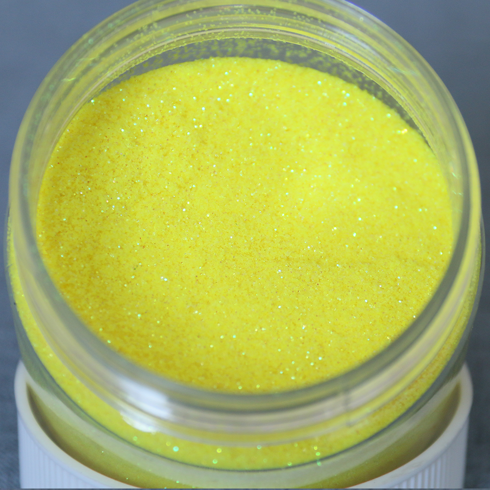 No.5 Yellow Glitter Powder Laser Pigments Shining Rainbow Powder For Nails Decorations Manicure Arts Glitter Crafts Paints 50g
