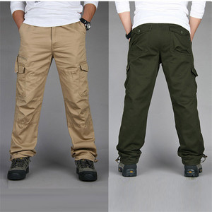 Image 5 - New Mens Cargo Pants Fashion Tactical Pants Military Army Cotton Zipper Streetwear Autumn Overalls Men Military Style Trousers