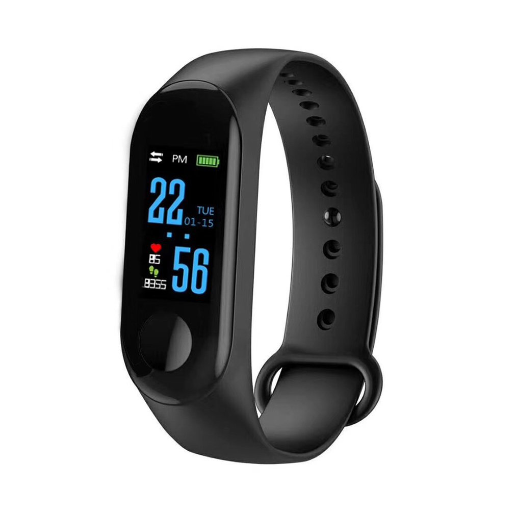 M3 Smart Bracelet Color Screen IP68 Waterproof Heart Rate Blood Pressure Monitor Tracker Replaceable Watch For Android IOS