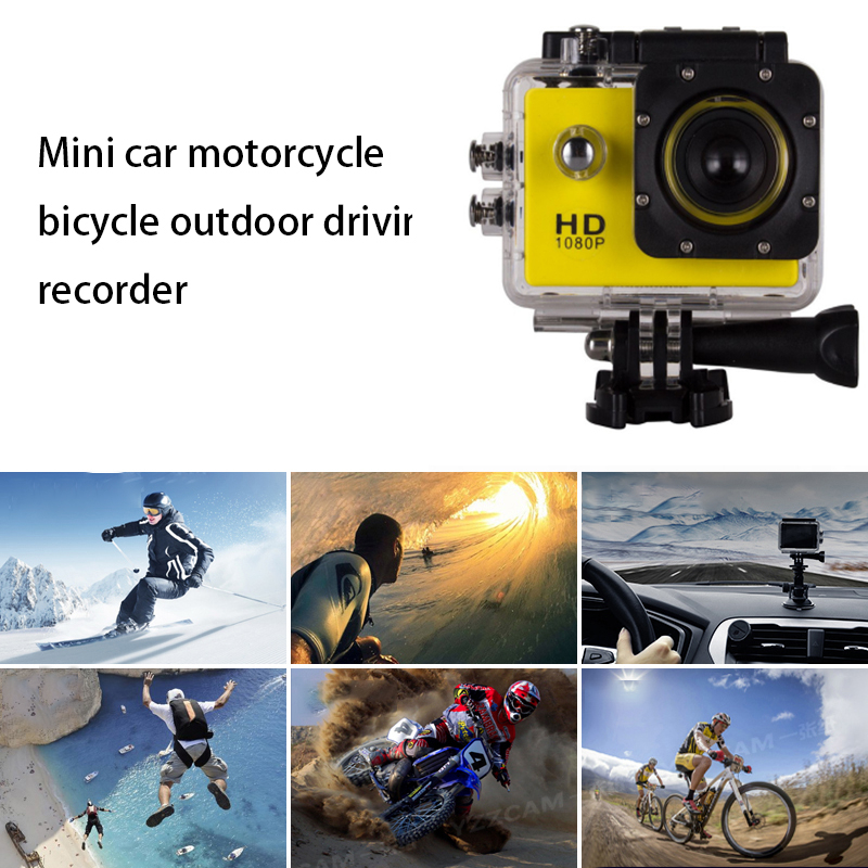 Mini sport fahren recorder 1080P outdoor reiten kamera HD bildschirm 2,0 zoll auto motorrad fahren recorder