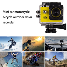 Mini sports driving recorder 1080P outdoor riding camera HD screen 2.0 inch car motorcycle