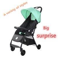 Gorąca sprzedaż 3 w 1 wózek dziecięcy Travel High Landscape lampka przenośna wózek składany kolorowy luksusowy wózek noworodka w Wózki z czterema kołami od Matka i dzieci na