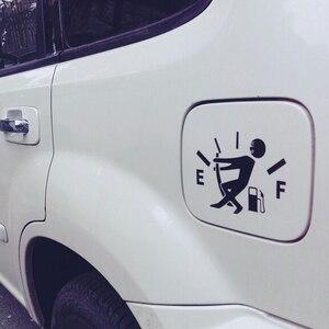Image 4 - 1Pc drôle voiture autocollant tirer bouchon de réservoir de carburant couverture pointeur complet hellafluxuriant réfléchissant voiture vinyle autocollant autocollant en gros voiture style