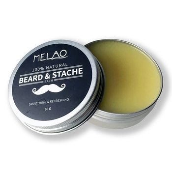 MELAO Beard Balm with argan oil and mango butter, Natural beard wax for beard care & styling balm, Leave-in Conditioner, 60g 1