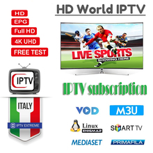 Italia IPTV M3u world Subscription Iptv Brazil Portugal Italy UK German Poland For Android TV Box Enigma2 Smart TV VLC with VOD все цены