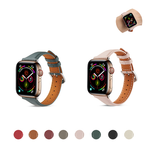 Genuine Leather Watch Band for Apple Watch 5/4 40MM 44MM Sport Bracelet Strap for iwatch Series 3/2/1 38MM 42MM accessories