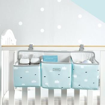 Sunveno Baby Storage Organizer Crib Hanging Storage Bag Caddy Organizer for Baby Essentials Bedding Set Diaper Storage Bag 12