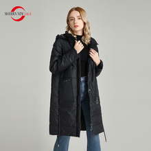 Puffer Jacket Overcoat Women Parka MODERN Hooded Spring Casual Ladies Autumn Long SAGA