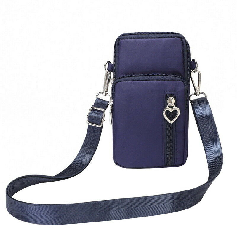 Waterproof Coin Bag Mini Nylon Crossody Cell Phone Cash Holders Shoulder Bag Strap Wallet Pouch Bag Purse Accessories
