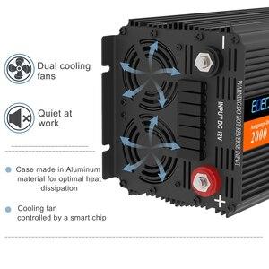 Image 3 - Edecoa電源インバータ 2000 ワット 4000 ワットdc 12v ac 220 変更された正弦波ソーラーインバータリモート制御lcdディスプレイusb 5v