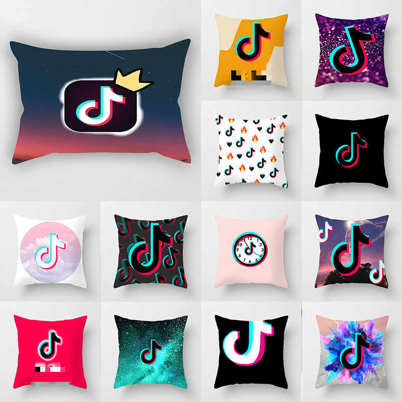 app logo facebook youtube cushion cover home decor music note instagram throw pillows wedding christmas decoration pillowcase