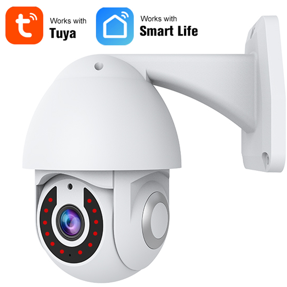 Tuya Camera HD 1080P Outdoor Wireless WiFi IP Camera Two Way Audio Auto Tracking Night Vision IP66 Waterproof Smart Life